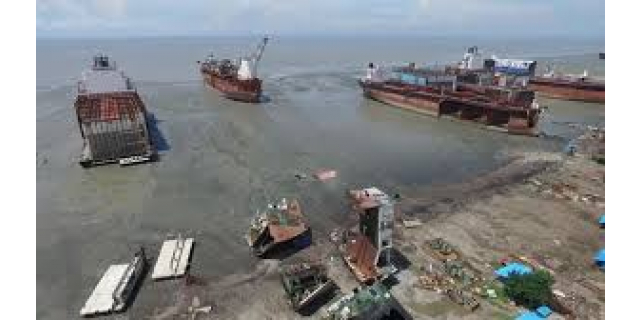 Beached Vessel's Indian Demolition Yards